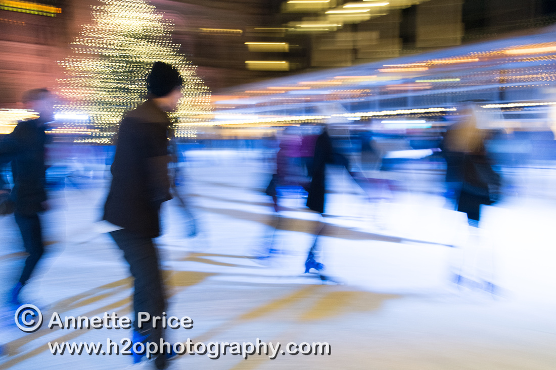 Ice skating in central London