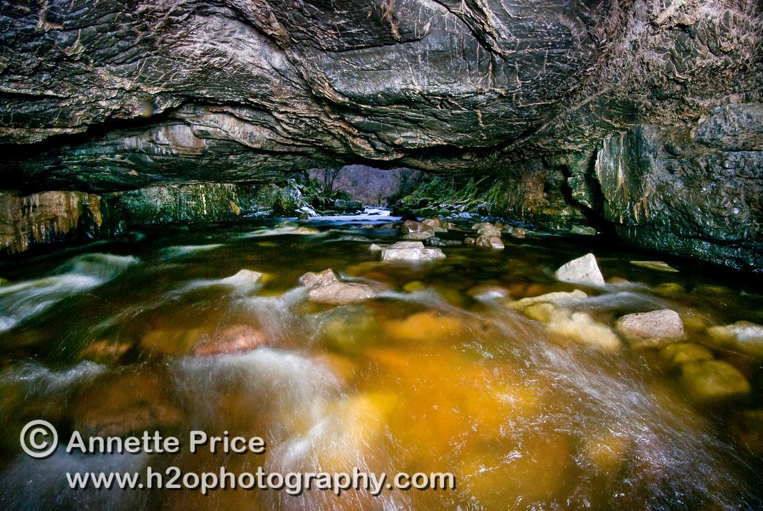 Porth Yr Ogof cave, Brecon, Wales, UK