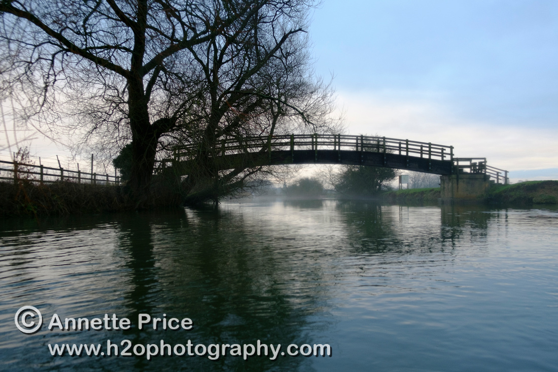 Bridge up-river from Lechlade. River Thames. UK.