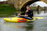Neil Montgomery on the River Thames at Tadpole Bridge. Oxfordshire.