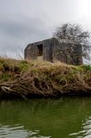 Pillbox, Chimney Meadows, River Thames, Oxfordshire.