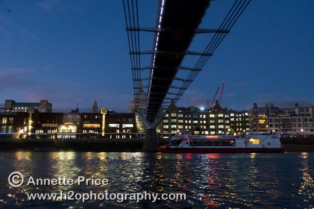 The Millennium Bridge. River Thames, London.