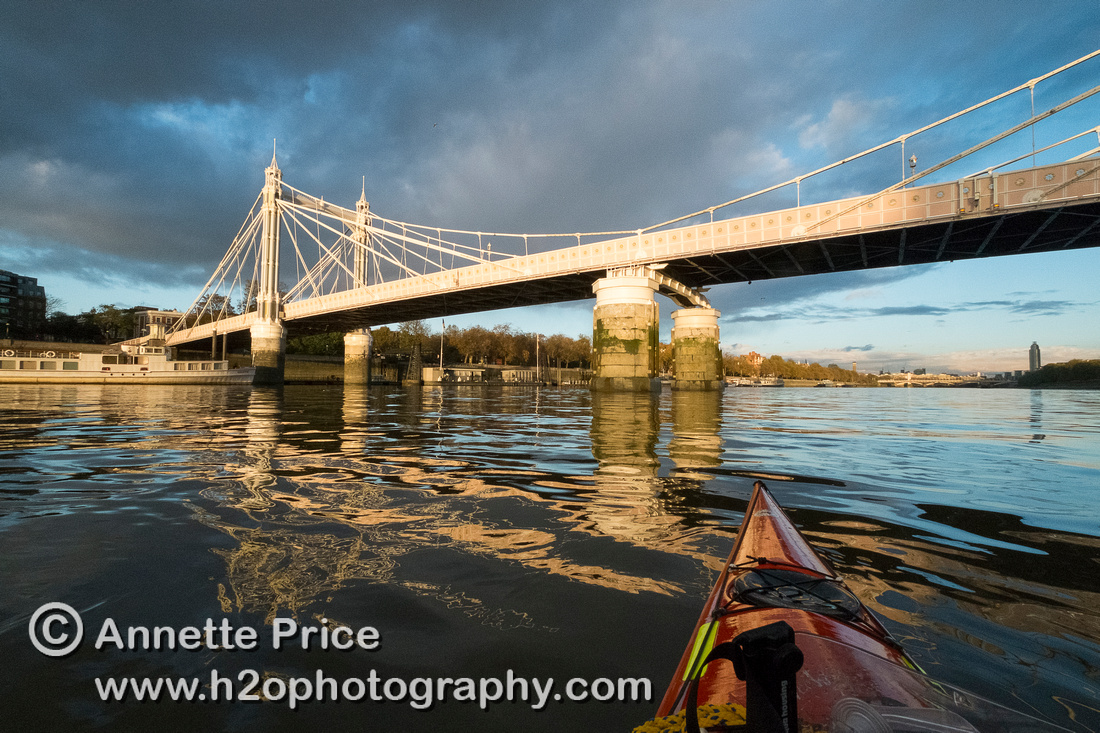 Albert Bridge, River Thames, London