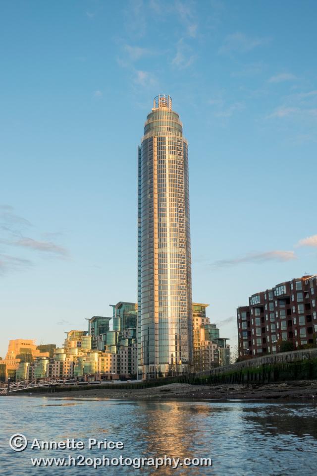 St George Wharf Tower, Vauxhall, River Thames, London