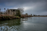 WW2 Pillbox at Cheese Wharf. River Thames.