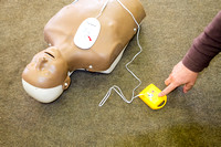 Classroom first aid - using defibrillators