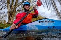 Paddler Mark Villa Vercella on the River Thames at Lechlade.