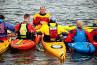 On-the-water. Training kayak paddlers to rescue swimmers