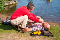 First aid outdoors - using a defibrillator