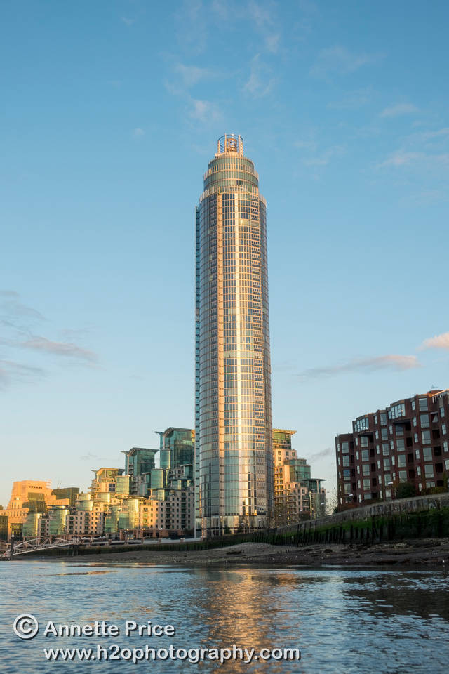 St George Wharf Tower, Vauxhall, River Thames, London